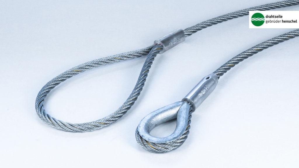 Kabelschlag-Anschlagseil gepresst